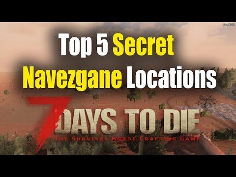 Top 5 Secret Navezgane Locations - 7 Days To Die Alpha 17