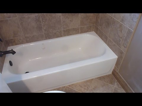 "Part ""1"" HOW TO TILE 60"" tub surround walls  - preparation, where to start tiling, tile layout"