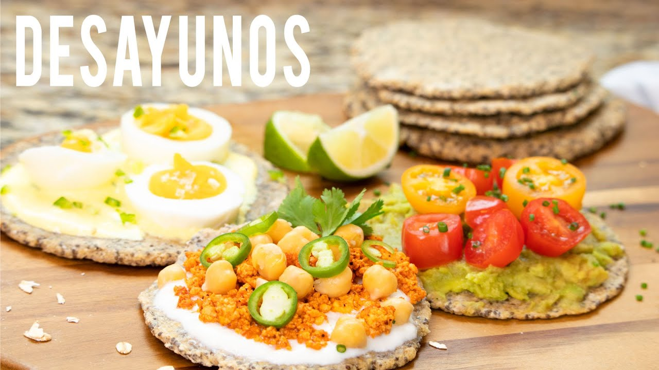 3 Desayunos salados y saludables | Tostadas de Avena y Chia | by Mundo Mom