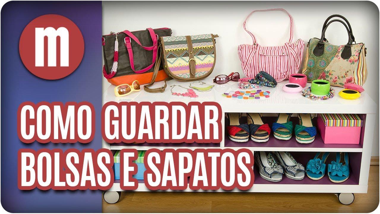 f168a5eac Como guardar bolsas e sapatos - Mulheres (08/01/18) - YouTube