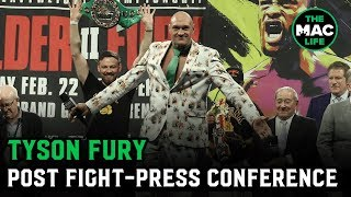 "Tyson Fury: ""Not bad for an old fat guy that can't punch, eh?"" 