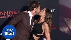 Gerard Butler and Morgan Brown at 'Angel Has Fallen' premiere