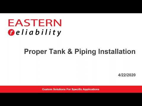 Proper Tank and Piping Installation Webinar