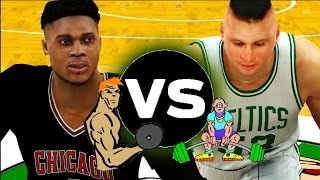 most athletic nba players of all time vs least athletic players   nba 2k17