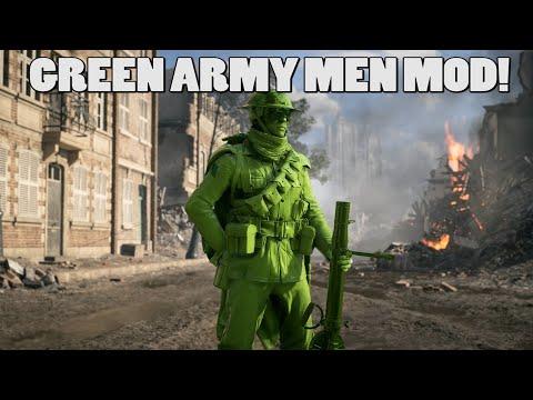 Green army men MOD in Battlefield 1! |