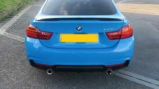 BMW 440i Revs, Acceleration, Inside Sound & Race Display Steering Wheel! (Individual Mexico Blue)