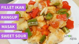 Resepi: - 1 keping ikan dory/suutchi - 1 sk ajishio - 3 sb tepung gandum + 3 sb tepung jagung + 1 sk tepung penaik - 1/4 biji cili benggala merah - 1/4 biji cili ...