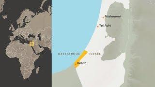 Raketaanval uit Gaza ten noorden van Tel-Aviv