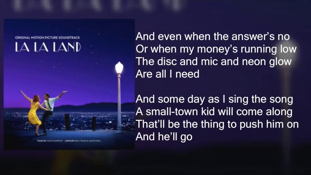 La La Land - City of Stars DUET - Lyrics - YouTube