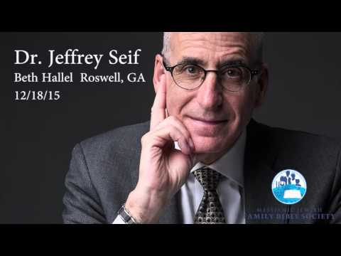 Dr. Jeffrey Seif at Beth Hallel, Roswell GA