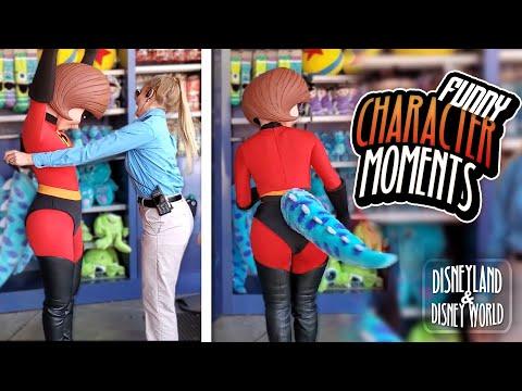 Funny DISNEY CHARACTER MOMENTS   Best Disneyland / Disneyworld Interactions 2020