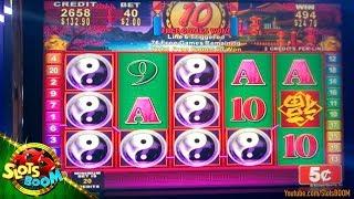 HAPPY St. Patrick's!! China Shores BONUS!!! 5c Konami Slot in San Manuel Casino