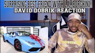 SURPRISING BEST FRIEND WITH LAMBORGHINI!! - David Dobrik *REACTION*