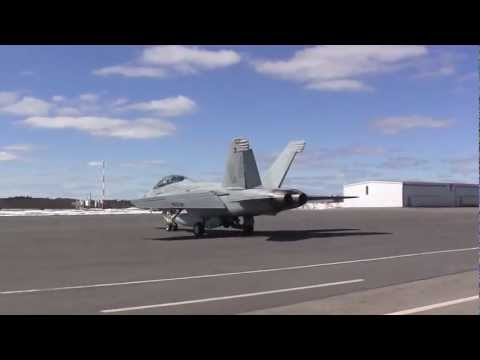 F/A18 Super Hornet Taking off from Worcester Airport (ORH), Worcester MA