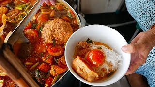 越南美食 路邊小吃 街头食品 - 螃蟹汤 越南早餐