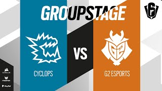 CYCLOPS VS G2 Esports // SIX INVITATIONAL 2021 – Group stage – Day 3