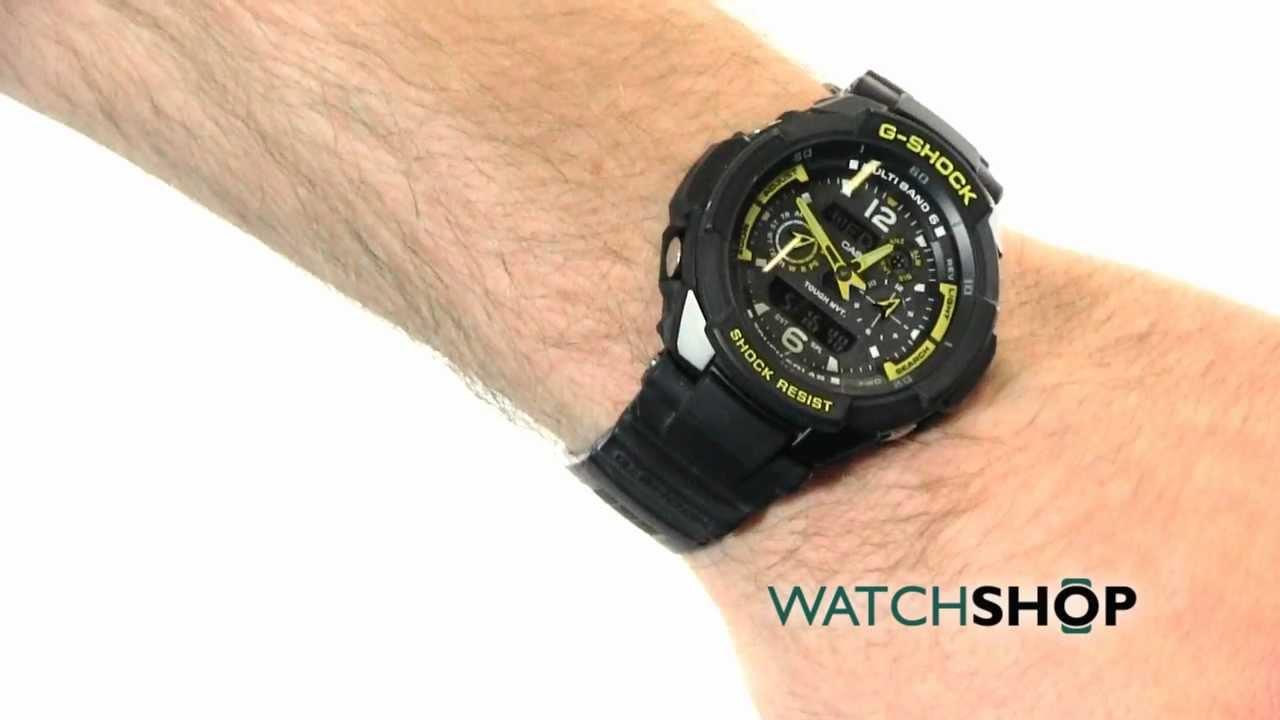 Men s casio g shock gravity defier alarm chronograph watch gw 3500b