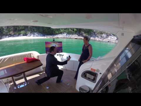 Epic Proposal and Engagement Idea Using Art on a Yacht!