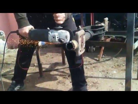 часть-2 ремонт торсионной (резино-жгутовой) подвески. пескоструйный компрессор Atlas Copco XAS85