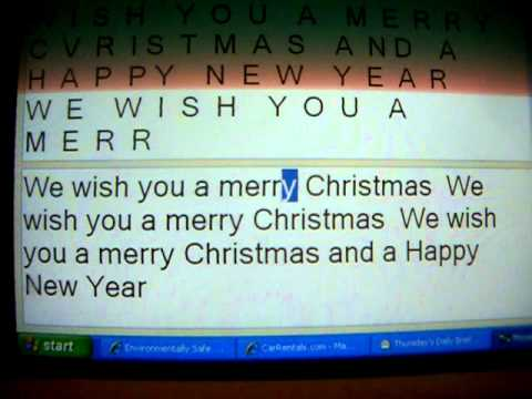 We wish you a Merry Christmas American Morse railroad code