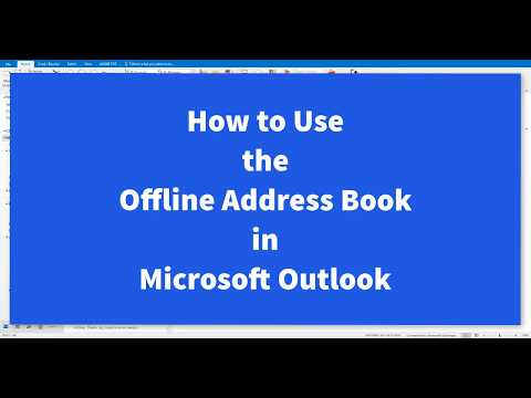 How To Use The Offline Address Book In Outlook
