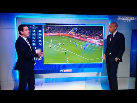 Gary Neville destroys Jamie Redknapp with Thierry Henry #KINGHENRY