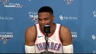 Russell Westbrook Interview   2018 Thunder Media Day  2018 19 NBA Season