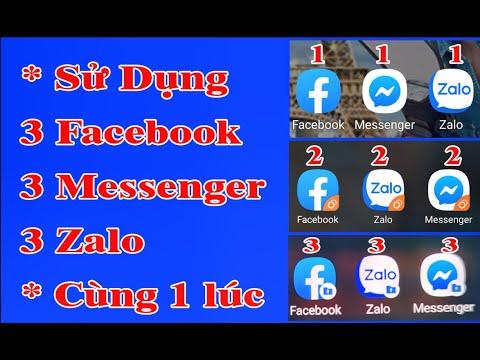 Sài Nhiều Facebook, Messenger, Zalo Cùng 1 Lúc, Trên 1 Chiếc Điện Thoại Samsung | Vũ Giang Vlogs