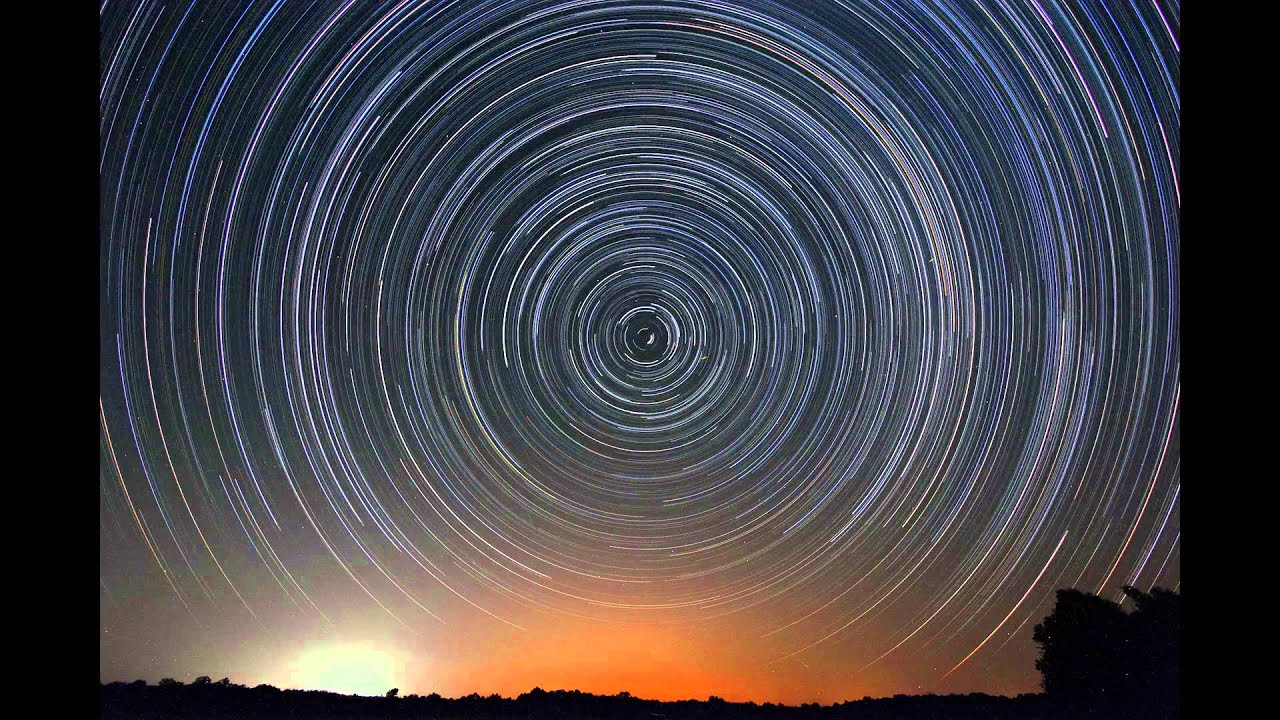Image result for stars rotating at night