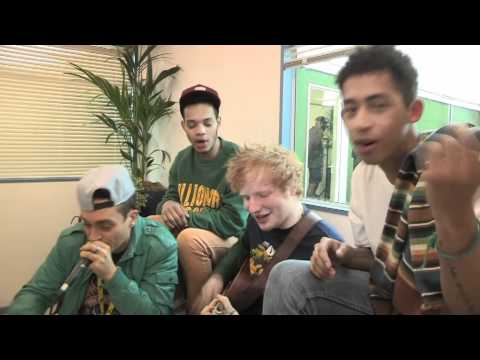 Ed Sheeran and Rizzle Kicks beatbox You Need Me backstage at R1 Hackney Weekend with Killa Kela