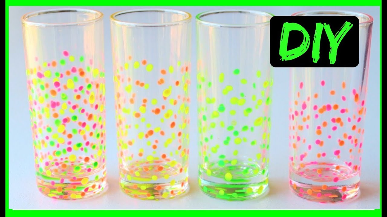 how to paint glasses confetti drinking glasses diy ali