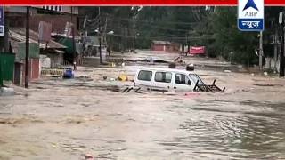 ABP News office flooded in Rajbagh area of Srinagar