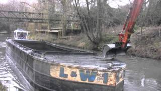 COTSWOLD CANALS dredging Stroudwater Canal at Ryeford