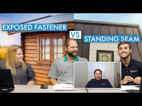 Exposed Fastener Metal Roofing Vs. Standing Seam Metal Roofing