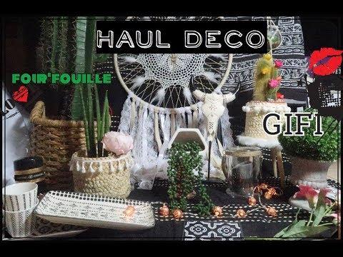 haul deco gifi foir 39 fouille youtube. Black Bedroom Furniture Sets. Home Design Ideas