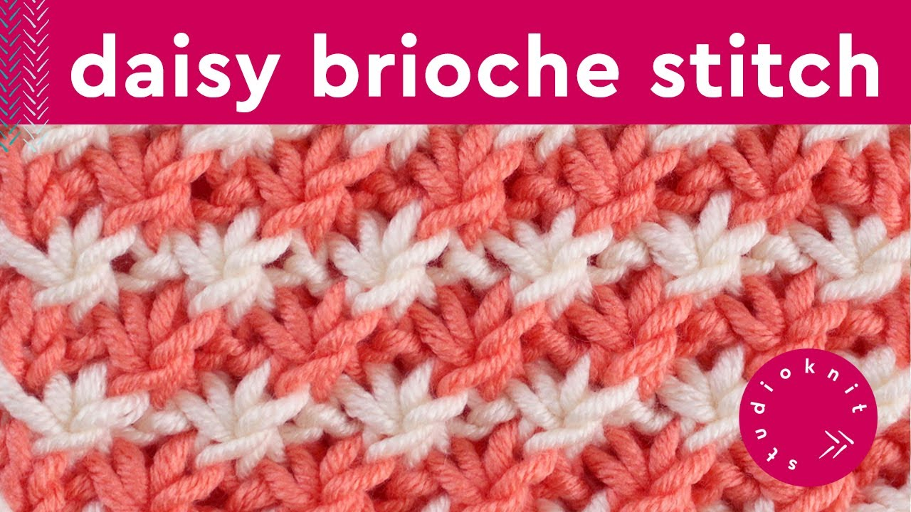 Daisy Flower Knit Stitch Pattern Youtube