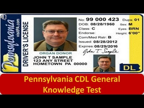 Pennsylvania CDL General Knowledge Test