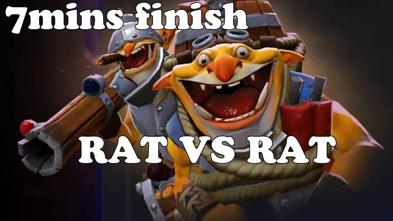 Dota 2 - Rat doto vs Rat doto WITH TECHIES! 7 minutes finish!