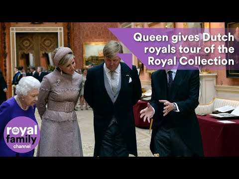 Queen gives Dutch royals a tour of the Royal Collection at Buckingham Palace