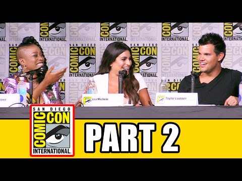 SCREAM QUEENS Season 2 Comic Con Panel (Part 2) - Emma Roberts, Billie Lourd, Taylor Lautner