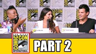 SCREAM QUEENS Season 2 Comic Con Panel (Part 2) - Emma Roberts, Billie Lourd, Taylor Lautner