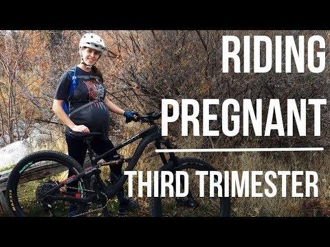 Riding Pregnant Third Trimester Dusty Betty Women's Mountain Biking