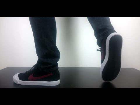 c37ffe33290a NIKE SB ALL COURT CK black team red white 806306 061 - YouTube