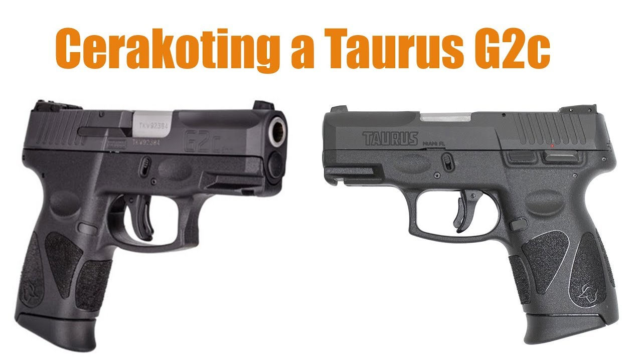 Taurus G2C Gets some Cerakote! Bright White / Black Color Scheme #cerakote