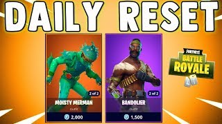 BANDOLIER SKIN RETURNS - Fortnite Daily Reset & New Items in Item Shop