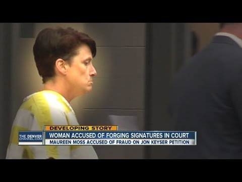 Woman accused of forging signatures appears in court