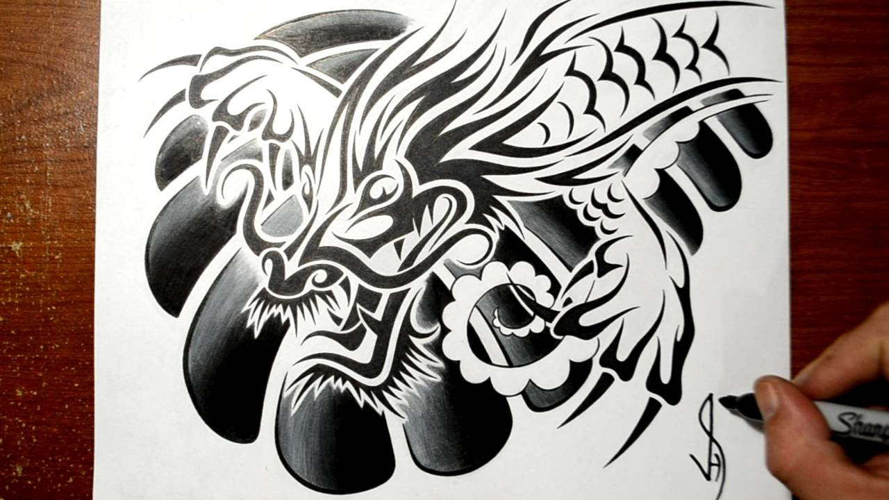 Designing A Tribal Chinese Dragon