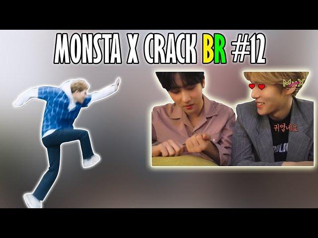 MONSTA X CRACK BR #12: MINHYUK IA DAR UM BEIJO NO I.M E JOOHEON PULANDO