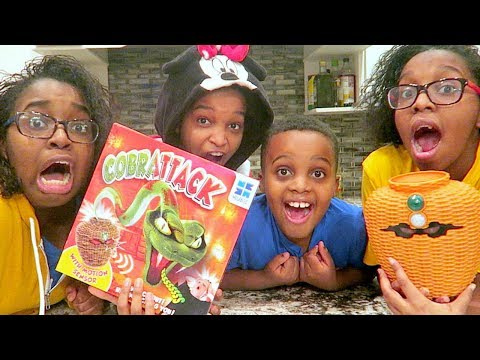 Thumbnail: Cobra Snake ATTACKS Kids! - Toy Game Challenge - Onyx Adventures