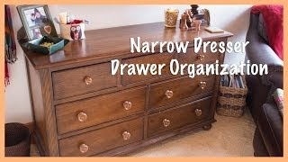Narrow Dresser Drawer Organization: Spring 2014 Overhaul